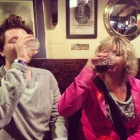 drinking competition between mama and jake