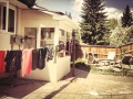 Laundry Outside the new house!