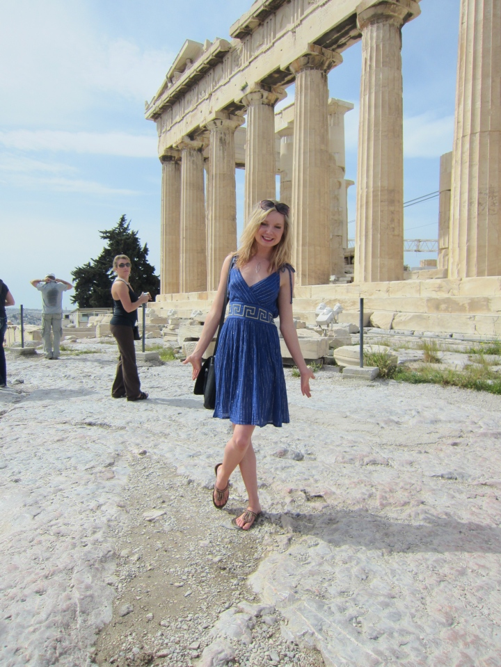 Yes, I look fabulous, but the Acropolis is no easy feat. Especially with your feet in sandals. (Athens 2013)