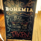 sign made for Bohemia