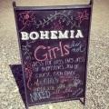 Sign I made for Bohemia