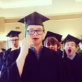Little man graduated