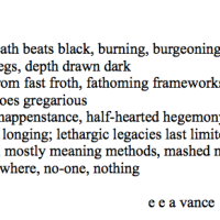 Now: An Alliteration Poem (Bernstein 18)
