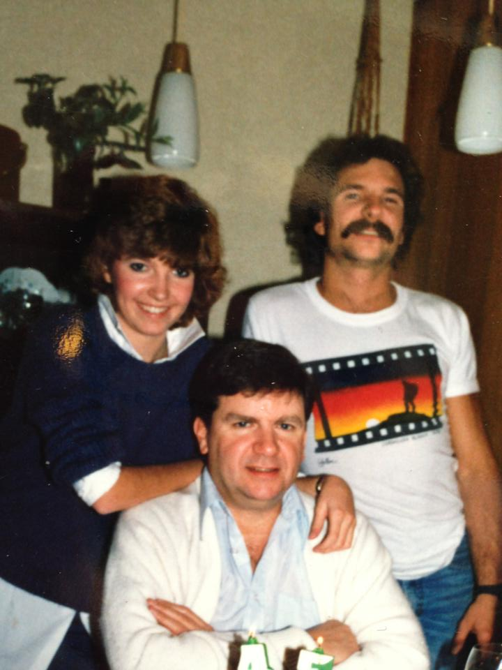 Jeff with his sister and father, Jennifer and Gerry
