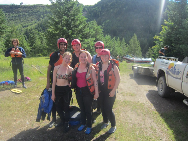 I don't know if it counts when the White Water Rafting Company Provides acceptable wear. (Fernie 2014)