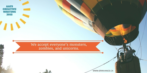 We accept everyone's monsters, zombies, and unicorns.